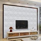 Voberry Großhandel 3D Brick Pattern Wallpaper moderne Wand Hintergrund TV Schlafzimmer Dekor (F)