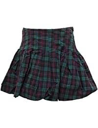 1367V gonna a palloncino RALPH LAUREN cotone quadri skirt kid