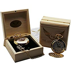 Lamborghini Aventador Pocket Watch coated in 24 Carat Certified Gold Luxury Wooden Gift