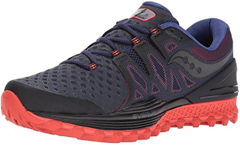 Saucony Men's Xodus Iso 2 Running-Shoes, Black47;Orange, 42.5 D(M) EU/8 D(M) UK