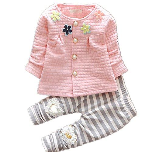MEXI Kids Herbst Mädchen Hosen Röcke Perlen Boden Kind culottes Kinder Baby-Outfits Striped Bowknot-Ballettröckchen-Gamaschen-Hosen-Spitzenstrumpfhose