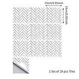 ENCOFT Topmail 10/24 Pièces Stickers Carrelage Auto-adhésif Imperméable en PVC Design de Carreaux de Ciment Autocollant Mural Décoratif pour Cuisine Salle de Bain 15x15cm, 20x20cm