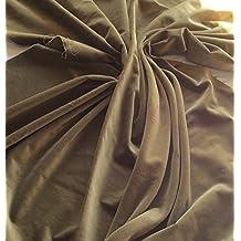 Pre corte 1m pieza de color verde oliva algodón tela de terciopelo costura–240gsm–112cms de ancho: por metro