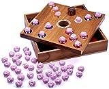 Logoplay Holzspiele Pig Hole - Big Hole - Schweinchenspiel - Würfelspiel - Gesellschaftsspiel - Brettspiel aus Holz