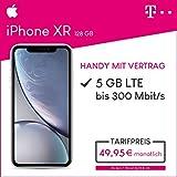 Apple iPhone XR (weiß) 128GB Speicher Handy mit Vertrag (Telekom Magenta Mobil M) 5GB Datenvolumen 24 Monate Mindestlaufzeit
