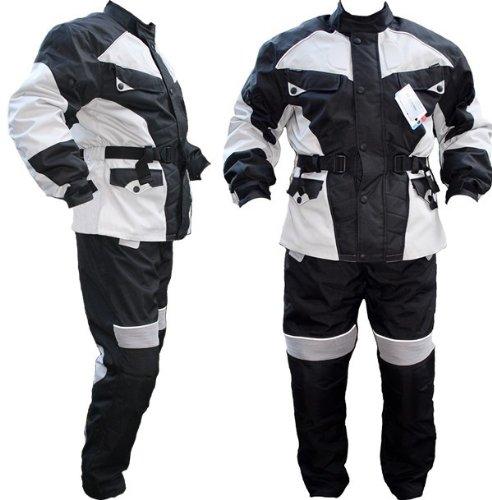 frauen motorradkombi Germanwear 2-teiler Motorradkombi Cordura Textilien Motorradjacke + Motorradhose, Größe:56