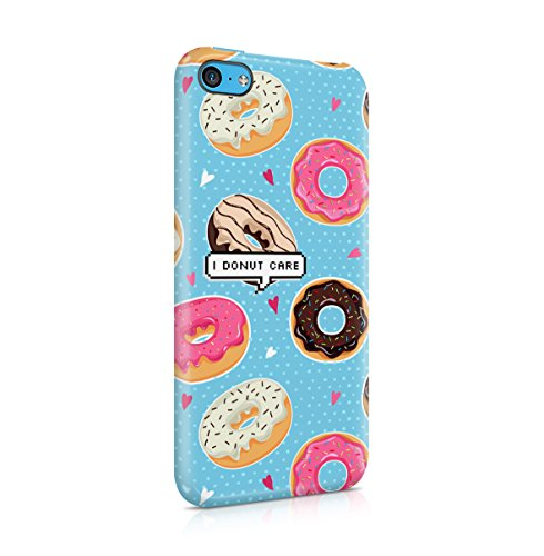 I Donut Care Donuts Pattern Print Apple iPhone 5 , iPhone 5S , iPhone SE Snap-On Hard Plastic Protective Shell Case Cover Custodia Glazes Donut