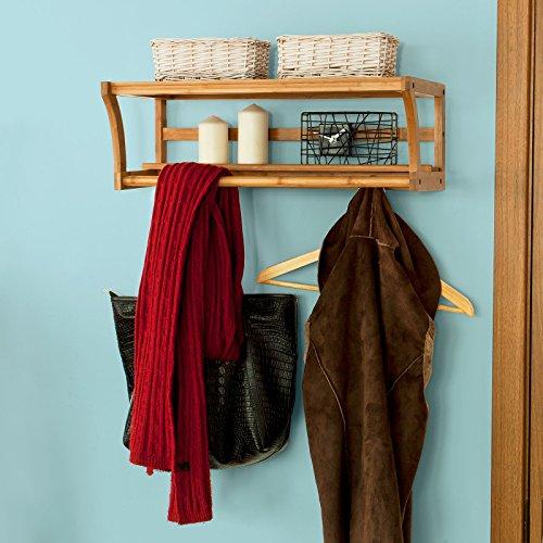 SoBuy Bambus Handtuchhalter und Badregal - 8