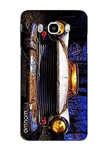 Omnam Old Vintage Car Printed Designer Back Cover Case For Samsung Galaxy J5 (2016)