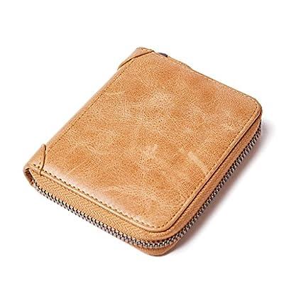 ZLR Multi-card Bit Leather Casual Men's Zipper Porte-monnaie Porte-clés Bag Package