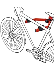 Support vélo mural ajustable, porte-vélo universel 33.5 x 33.5 x 13.5 cm, rangement vélo avec accrochage horizontal, charge max. 20 kg