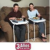 TABLE MATE MESA AUXILIAR 3 AÑOS DE GARANTIA BANDEJA PARA CAMA SOFA ORDENADOR MESA PLEGABLE REGULABLE EN 6 ALTURAS 3 ANGULOS DISTINTOS