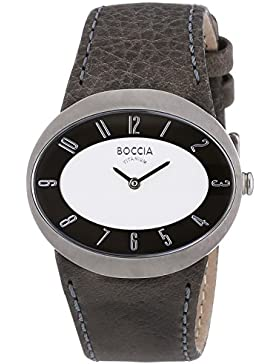 Boccia Damen-Armbanduhr Analog Quarz Leder 3165-08