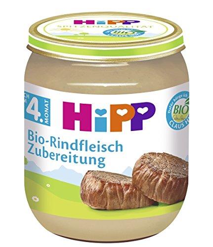 Preisvergleich Produktbild Hipp Bio-Rindfleisch Zubereitung,  6er Pack (6 x 125g)