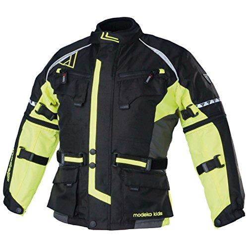 Modeka tourex Kids bambini giacca in tessuto-Nero Giallo