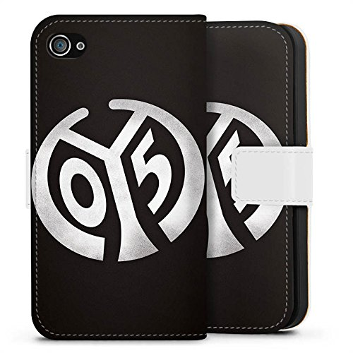 Apple iPhone 7 Hülle Case Handyhülle 1. FSV Mainz 05 e.V. Fanartikel Bundesliga Fußball Sideflip Tasche weiß