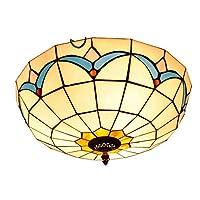 Balala BIAN Tiffany Ceiling Light,12 Inch MagnoliaGlass Light Fitting,for Bedroom Restaurant Café Tiffany Style Ceiling Lamps Light of The Bedroom