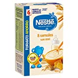 Nestlé Papilla 8 cereales con Miel, Alimento Para bebés - 900 gr