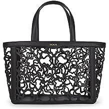 Tous Capazo Mediano Kaos Shock, Shopper para Mujer, Negro (Black), 15x25x32 cm (W x H x L)