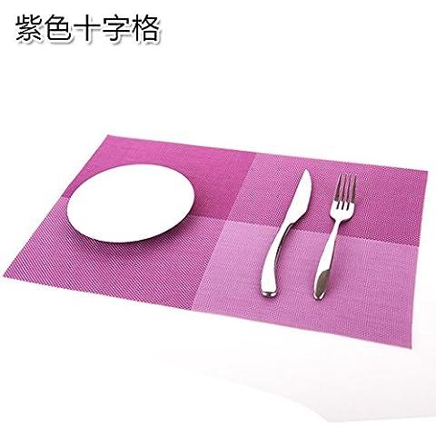 yifom rettangolare presina pad occidentale PVC tovagliette, Scivolo D' acqua, 6 Purple
