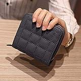 Portafoglio Donna con Zip Moneta Raccoglitore delle Donne della Frizione della Borsa per La Mamma Regalo Borsa Piccola Mini Card Holder_D015 Grey
