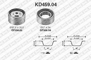 SNR kD459.04Kit courroies crantées