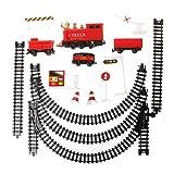 JERKKY Elektrische Spielzeug Batteriebetriebene Eisenbahn Eisenbahn Spielzeugauto mit Ton Rauchen für Kinder Kinder 48#