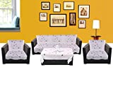 WSB Patti 11 Piece Polyester Sofa Cover Set - White 65x57 CM