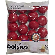 Bolsius–Candele galleggianti in confezione da 20e magnete con frase motivazionale