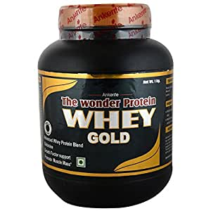 Ankerite Whey Gold Natural Powder,Glutamin, Growth Factor Support (Chocolate) - 1000 g