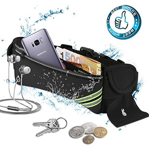 Solocil Laufgürtel, verstellbare Sporttasche Kompatibel mit iPhone 8 Plus und anderen Handys, geeignet für Gym, Laufen, Radfahren, Wandern, Camping, Klettern, Wandern und andere Outdoor-Aktivitäten