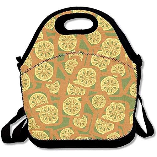 tand Tragbare große & dicke Neopren-Lunch-Taschen, isolierte Lunch-Tasche, warme Tasche mit Schultergurt, für Damen, Teenager, Mädchen, Kinder, Erwachsene ()