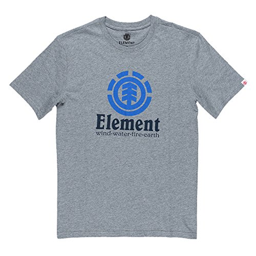 Element Herren Vertical Ss Shirt und Hemd grey-heath