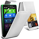(Weiß) Nokia X Custom Designed Stilvolle Accessoires zur Auswahl Schutzmaßnahmen Kunst Credit / Debit-Karten-Leder Flip Case Hülle & LCD-Display Schutzfolie von Hülle Spyrox