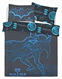 Gugro Harry Potter, Batman Disney Kids Set Copripiumino Trapuntato in Policotone, Set di Biancheria da Letto Reversibile Due Lati, Panel Batman W.Industries, Double Size Duvet Set
