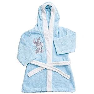 Albornoz de algodón para niño, diseño de Looney Tunes, color azul, de 1a 6años - 13147 9