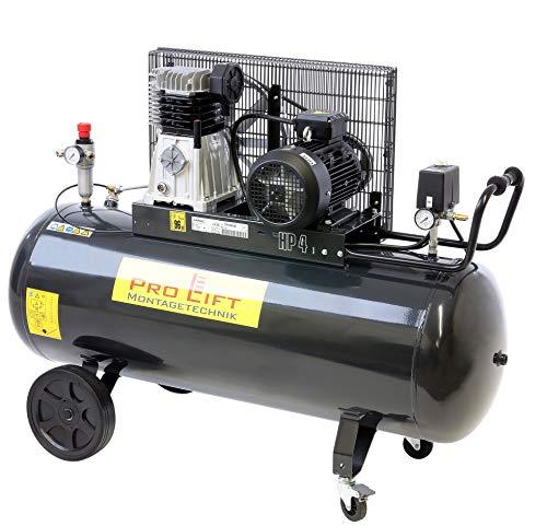 Pro-Lift-Montagetechnik 3kW Kompressor, 10bar, 360l/min, 380V, 200Liter Kessel, schwarz, 00993