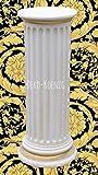 Medusa Säule Mäander Style Dekosäule 100cm Griechische Säulen Barock Podest Modern Styl 1102 k-108 Kunstharz ( ALLWETTER FEST ) !!! TOP ANGEBOT !!!