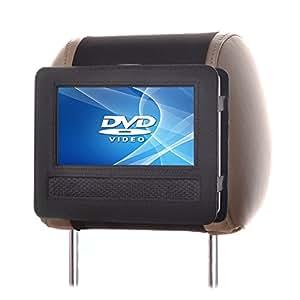"""TFY Support appuie-tête de voiture pivotant & à rabat pour lecteur DVD Portable 7 """""""