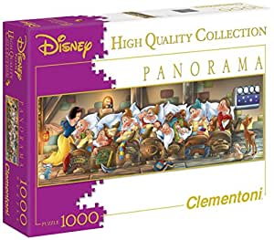 "Clementoni ""Disney Snow"" Panorama Puzzle (1000-Piece, White)"