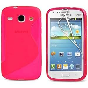 MCI Coque Gel TPU S-Line Samsung Galaxy Core I8260 / i8262 Couleur Rose