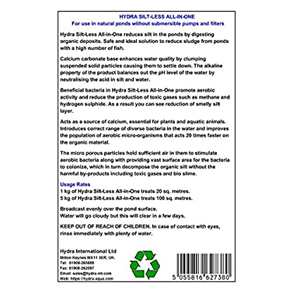 HYDRA Pond Sludge Remover SILT-LESS ALL-IN-ONE 5KG Prevents Blanket weed, Algae, Cloudy Water, Slime and Bad Odour 2