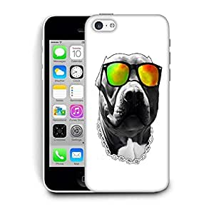 Snoogg Dog With Glares Designer Protective Back Case Cover For IPHONE 5C