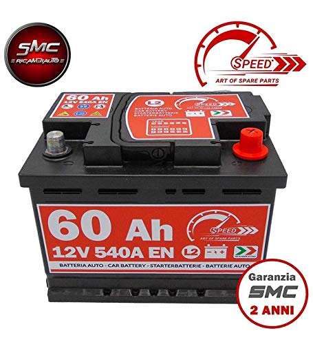 SPEED, BATTERIA PER AUTO L260, 60 AH, 540A, CON POLO POSITIVO A DESTRA SPEED BY SM