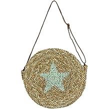 D,casa - Bolso capazo de Palma Estrella Redondo Estrella Verde