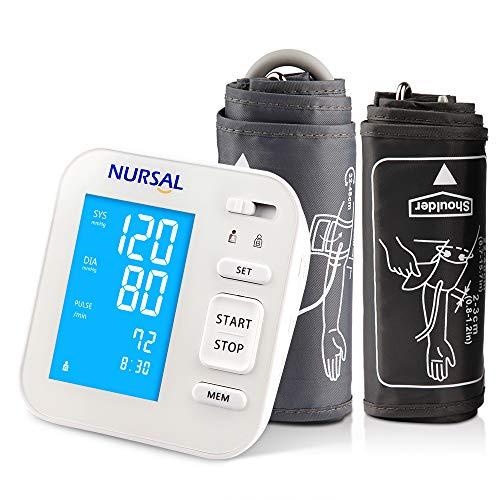 NURSAL – Nuovo Misuratore Digitale della Pressione Sanguigna da Braccio con Cavo USB di Alimentazione e Ampio Schermo Digitale Retroilluminato per 2 Utenti (memorie 2 * 120)