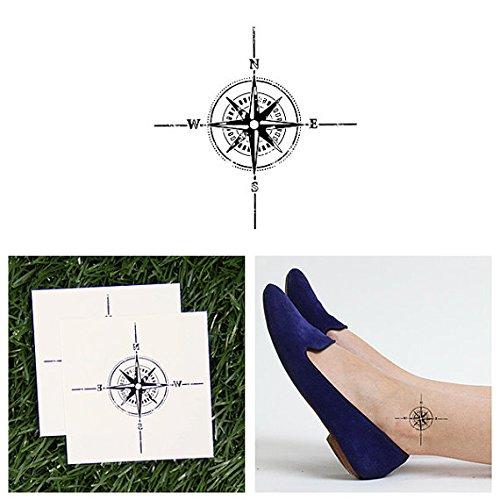 tattify-tatouages-temporaires-marin-compas-objets-trouv-s-set-de-2