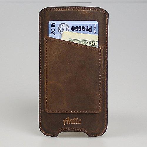 "Antic Case ""Chloris"" Ledertasche Iphone 6 / Iphone 6S Iphone Hülle Cover Backcover Vintage Look Slim Design (Iphone 6 / 6 S, Vintage Braun) Vintage Braun"