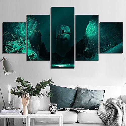 BOYH 5 Panel Drucke auf Leinwand Tom Clancy\'s Rainbow Six Siege Poster Giclee HD-Wand Kunst Modern Drucken Wohnzimmer Hauptdekorationen,B,30×50×2+30×70×2+30×80×1