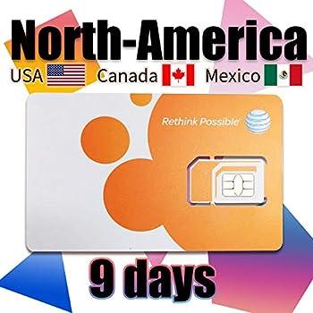 Carte Usa Canada Mexique.Carte Sim Prepayee Usa Canada Et Reseau At T Du Mexique